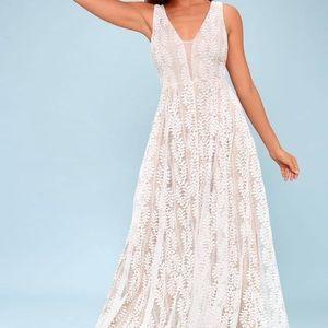 Lulus Eliana Lace Maxi Dress